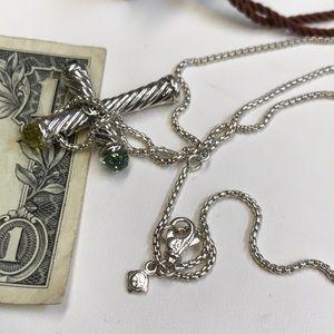 David Yurman Jewelry - David Yurman Multi Color Stone Cross with Chain